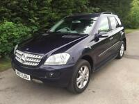57 REG - MERCEDES ML320 CDI SE 4X4 AUTOMATIC 3.0 TURBO DIESEL