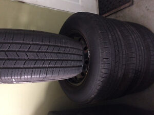 215/70/15 Michelin tires with steel rems