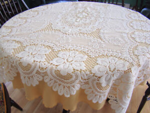 Oblong Lace Tablecloth
