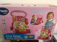 VTECH BABY FIRST STEPS BABY WALKER - AGE 6-30 months