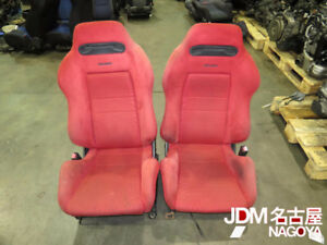 JDM 94-01 Honda Acura Integra DC2 Red Recaro Seats / Rails B18C