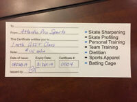 Gift certificate for fitness class