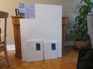 Toile pour peinture a l'huile et valise pour transport de toile