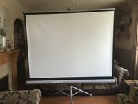 Big projection screen.