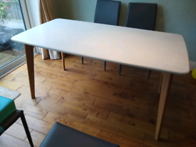 Dining Table, White & Oak, from Made dot com, 4-6 seater
