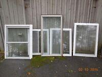 Eight Aluminum windows