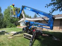 Tree Removal w/The Spidermen.. Only Tracked Manlift In Ontario!