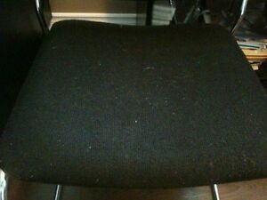 2 Black Soft Cushioned Chairs With Chrome Frame London Ontario image 3