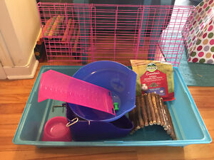 Guinea pig cage/house/litter box/fooddish/home