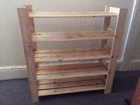 Wooden Oak Shoe Rack
