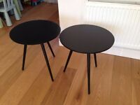 2 NEXT SIDE TABLES - Black