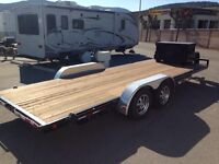 "Car Hauler Trailer 20ft x 83""W deck 7000lb rating"