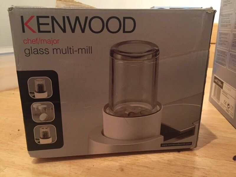 Kenwood Chef Accessoriesin Downend, BristolGumtree - Kenwood Chef/Major glass multi mill with 4 glass jars and lids.Kenwood Chef/Major glass liquidiser. Both in as new condition