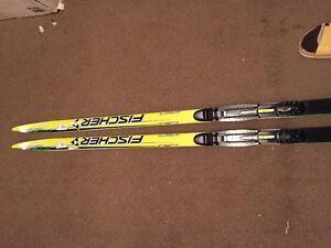 Cross county ski equipment.