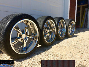 Leon Hardiritt 3 Piece Wheels on Tires 5x114.3 Bolt Pattern