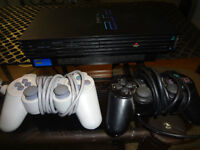 Playstation 2 system (PS2) with 2 controllers