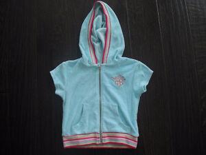 Liv-A-Little Short Sleeve Zip Up Hoodie Size 4