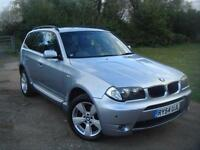 BMW X3 2.5i auto 2004MY Sport, F.S.H, 12 MONTHS MOT, STUNNING BLUEWATER COLOUR