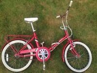 Vintage Raleigh Folding Bicycle