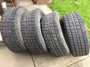 LT265/70R17 Arctic Claw Studded Winter Tires and Rims