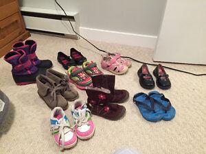 Girls Shoes, Sandals and Boots Lot Size 6 and 7