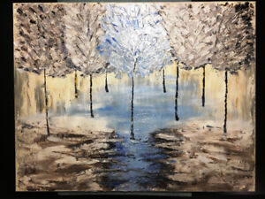 Signed Oil Painting - 22in x 28in