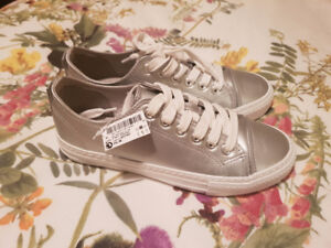 Next Silver Sneakers Size 6 US.36 Euro.3.5 UK