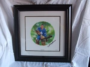 2004 Johnnie Bower Autographed Canada Post Lithograph #/500
