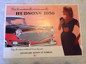 BROCHURE VÉHICULE HUDSON AUTO 1956
