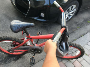 "Brand New Red Boy's Bicycle Size  18"" with helmet"