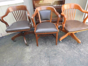 antique vintage Krug office chairs and swivel chairs new leather
