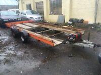 Large car transporter trailer