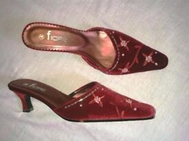 Lovely BURGUNDY Wedding Shoes - MUST SELL !