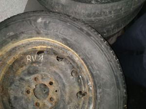 USED TIRES HANDCOOK on RIMS 215/70/16  5x114.3