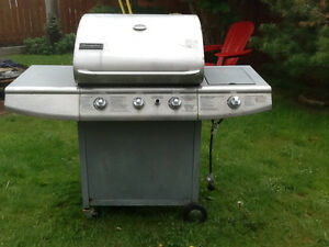 Stainless Steel Charmglo BBQ with side burner