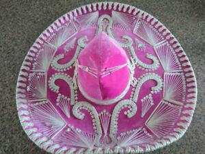 Hot Pink and White Mariachi Sombrero
