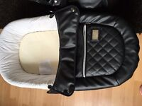 Black leather vib pram. Only 275.