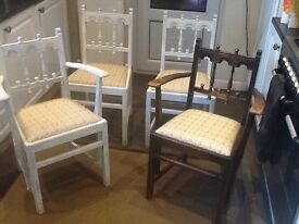 Chairs, shabby chic, older style
