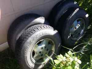Lt235/85r16 tires on rims $250 obo