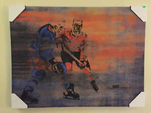 "New! Reduced! Canvas hockey print 31.5"" x 24"" ready to hang! Kitchener / Waterloo Kitchener Area image 1"