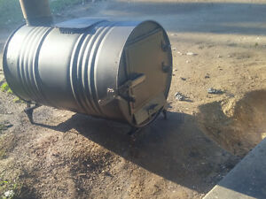 Wood Stove from steel barrel (All steel construction)