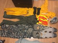 Sault college fish and wildlife gear and textbooks