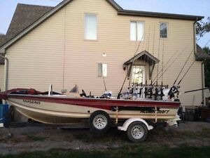 Fully loaded 19.5' alumicraft with Johnson 150hp $15000obo