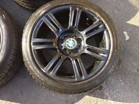 """Bmw 3 series Msport alloy wheels with tyres staggered 17"""" Alloys"""