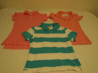 3 Girls Polo Shirts for $5.00 Size Sm & X-sm