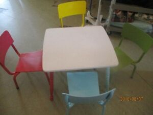 Child's Table & 4 Chairs