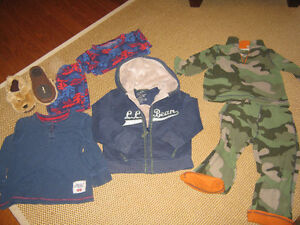 LLbean clothing incl camp hoodie &  Doggie slippers (size 9-10)