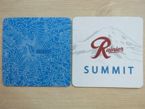 Beer Coaster ~ RAINIER Brewing Co Summit Light Lager ~ Irwindale, CALIFORNIA
