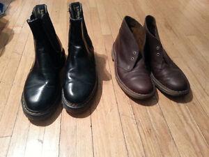 Doc Martens Chelsea Boots and Clarks Desert Boot