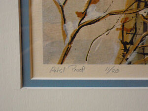 "Peter Robson, Sparta, Elgin Co. - Artist Proof ""Awaiting Spring"" London Ontario image 5"